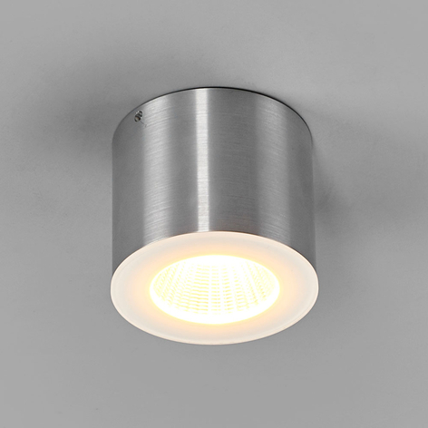 Helestra Oso LED plafondspot, rond, aluminium mat