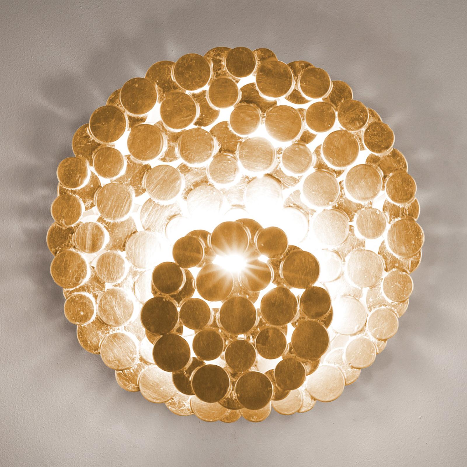 Terzani Tresor Designer-Wandleuchte gold
