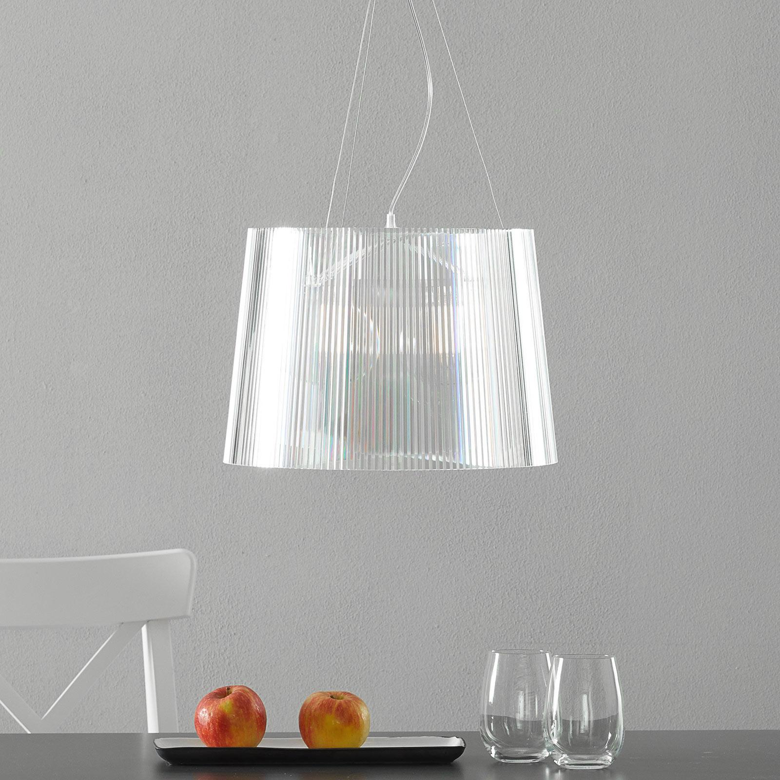 Lámpara colgante LED Gè transparente