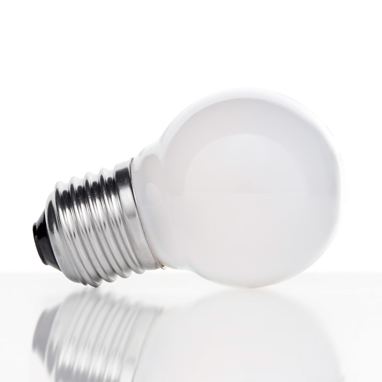 Ampoule goutte E27 4W 827 LED, intérieur mat