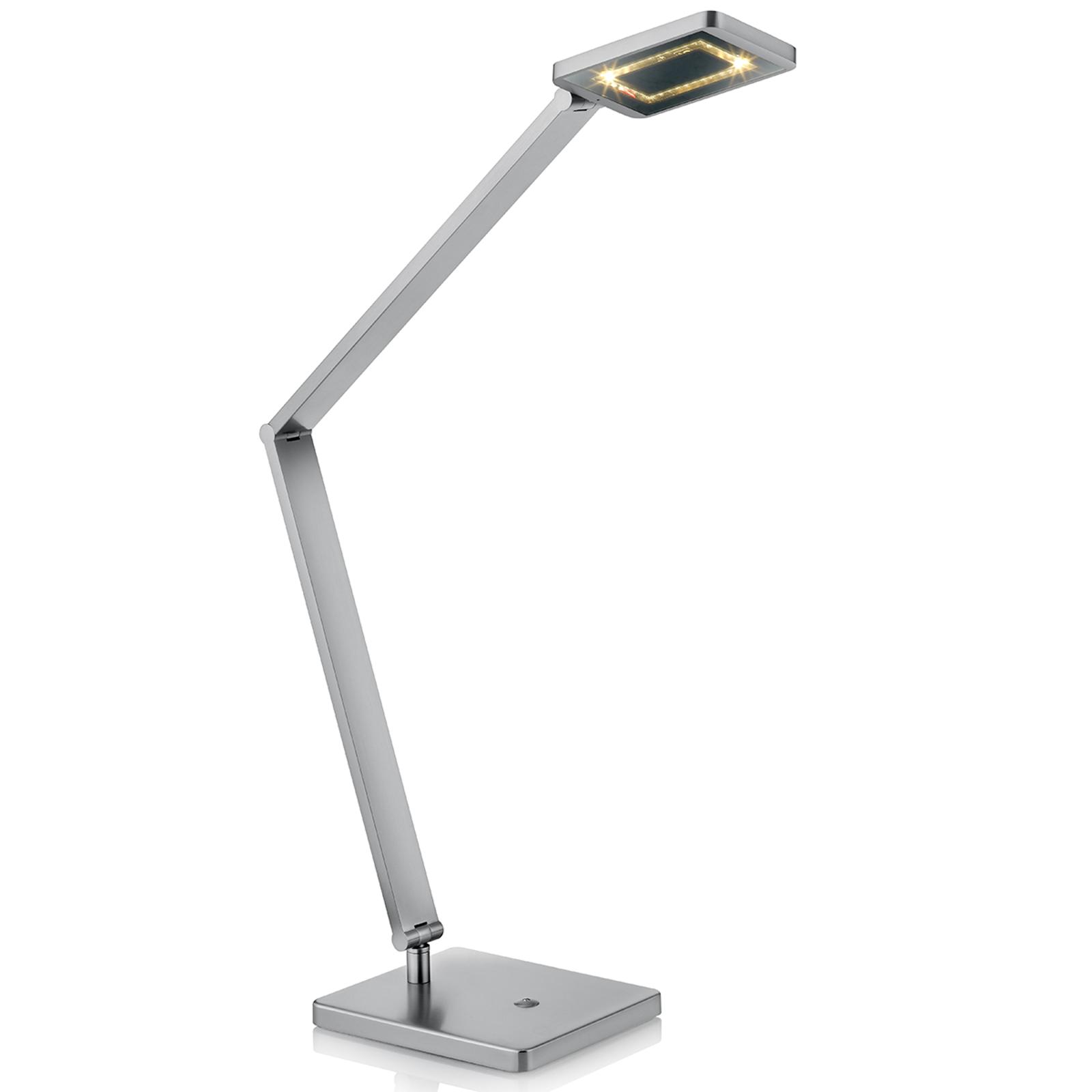 LED-Tischleuchte Space mit Touchdimmer nickel matt