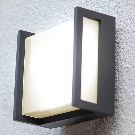 LED-Außenwandleuchte Qubo, 14cm x 14cm