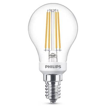 Philips LED-pære E14 P45 4,5W klar WarmGlow