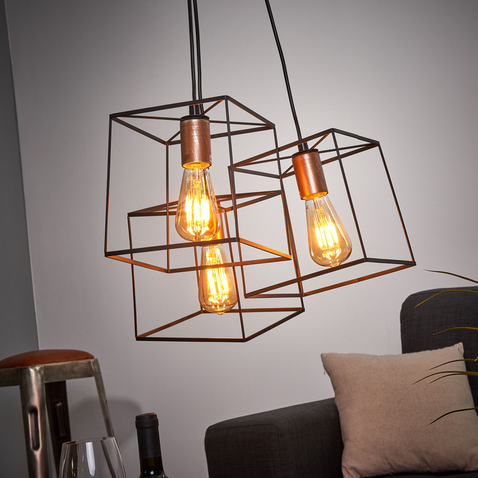 Lampa wisząca Agata w stylu Vintage