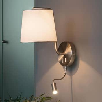 Applique Berni di tessuto con luce di lettura LED
