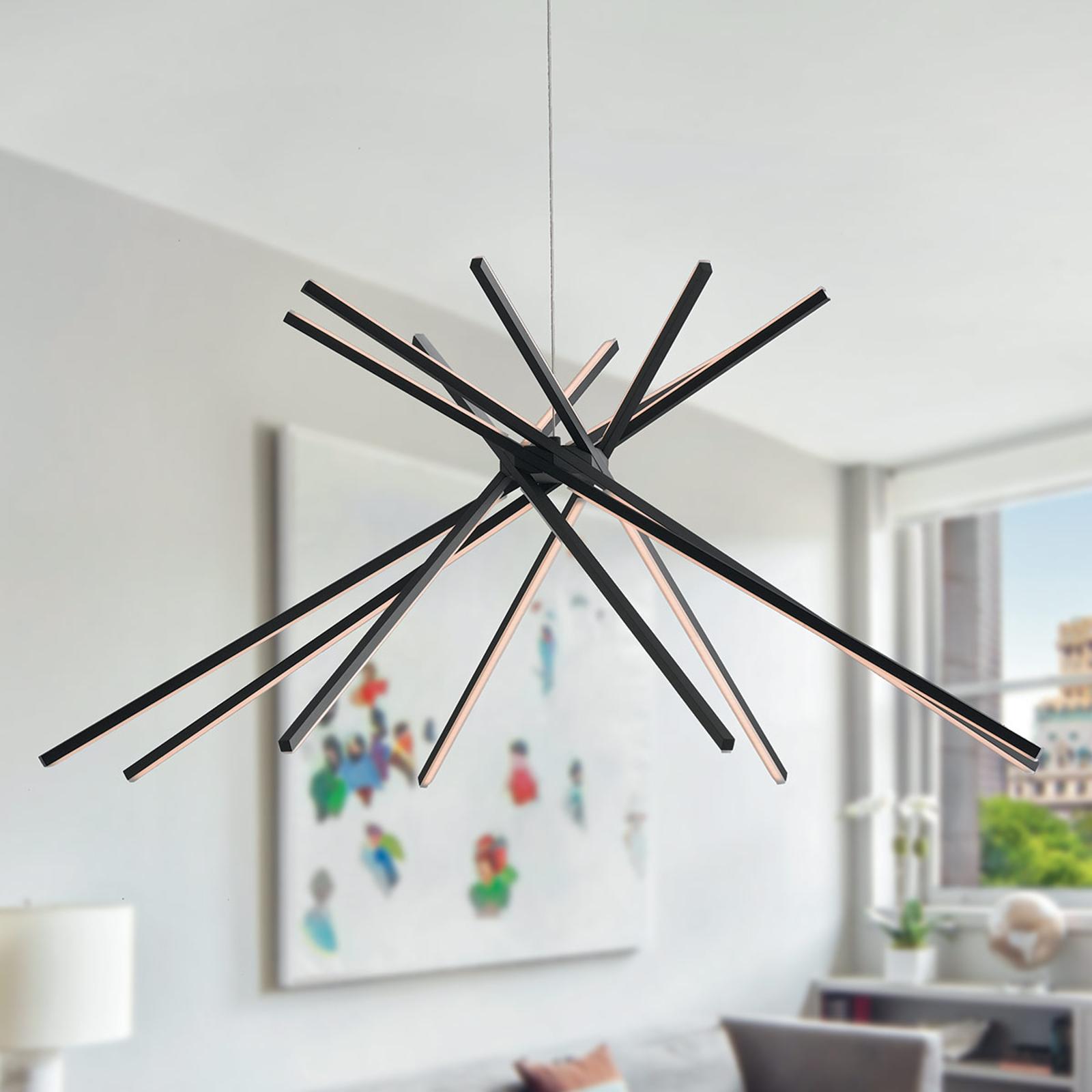 LED hanglamp Shanghai, zwart