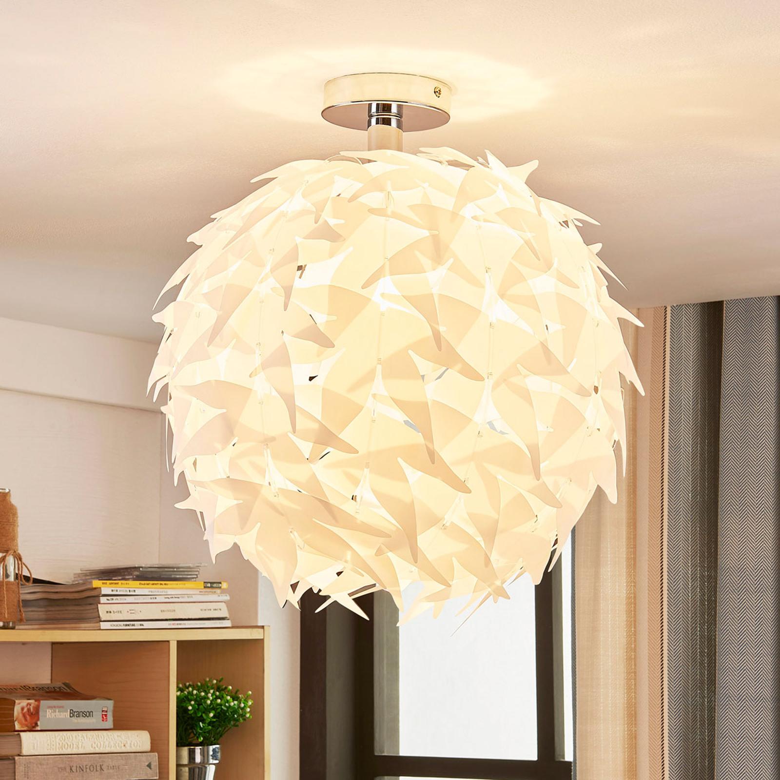 Corin – biała lampa sufitowa, trendy
