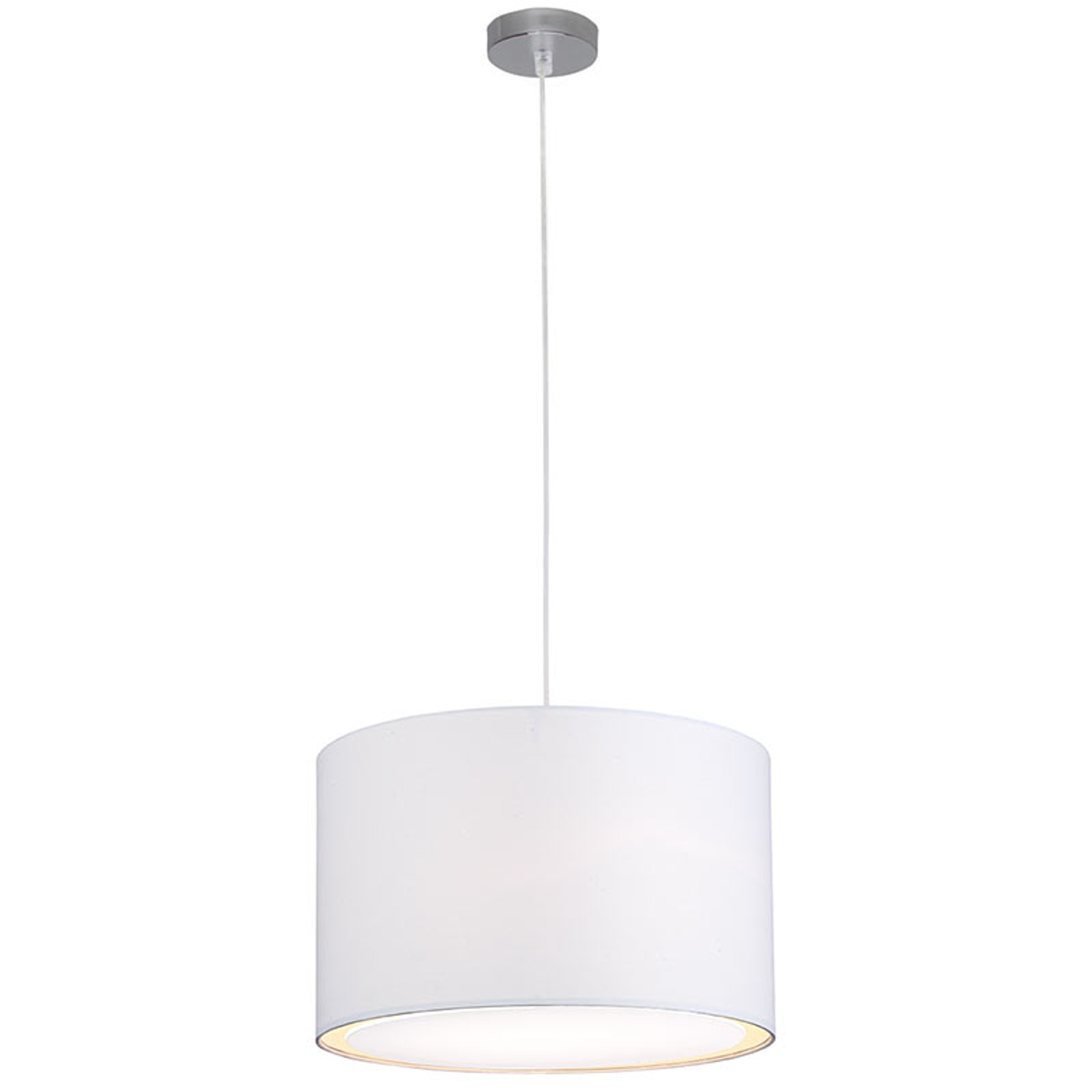 Lámpara colgante Clarie, clásico-moderno, blanco