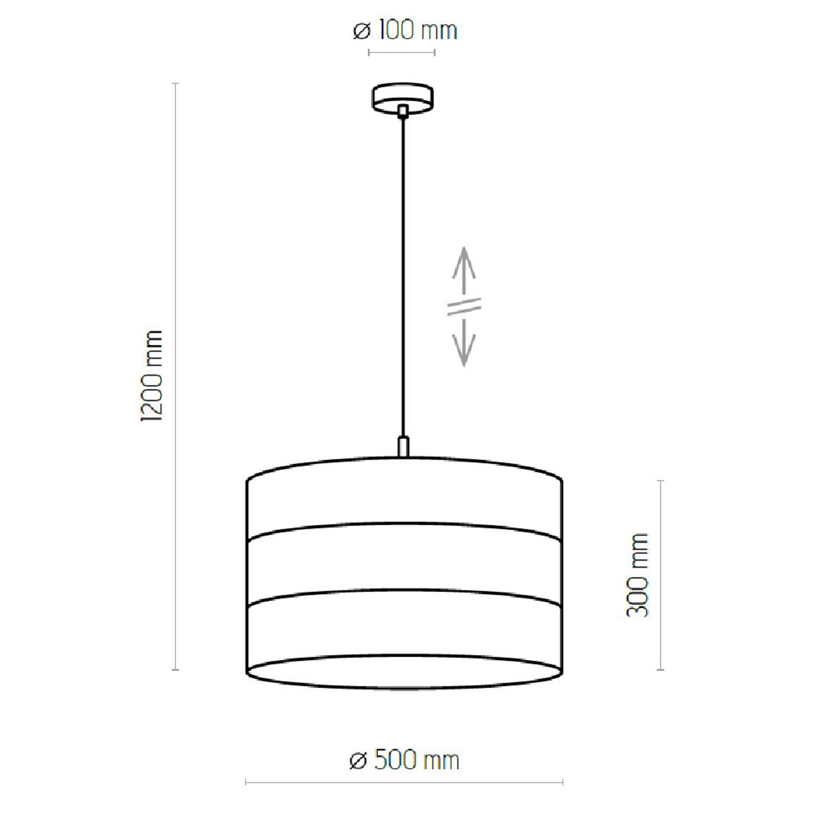 Hanglamp Tago, 1-lamp, wit/goud