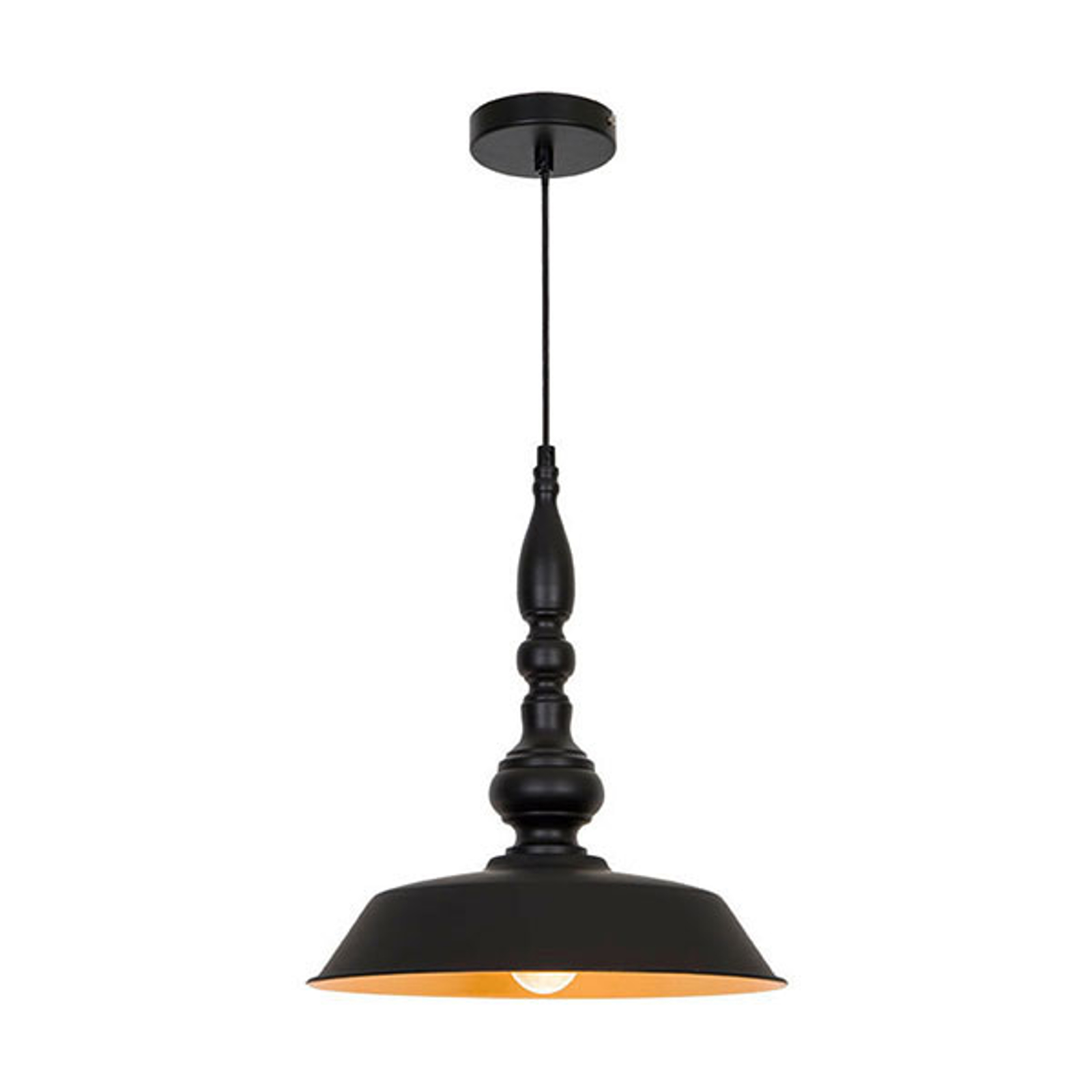 Lampa wisząca Colin, czarna, Ø 36 cm