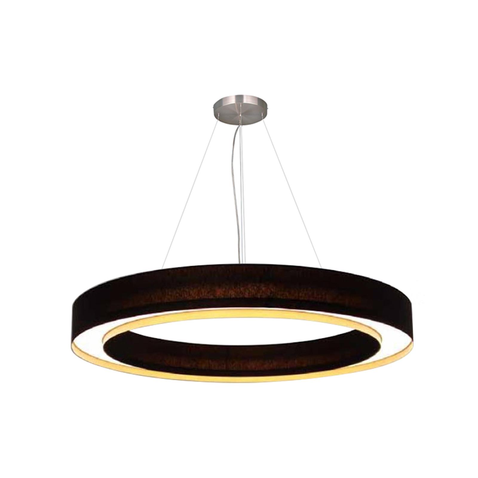Kruhové LED závěsné světlo Cloud, 45 cm
