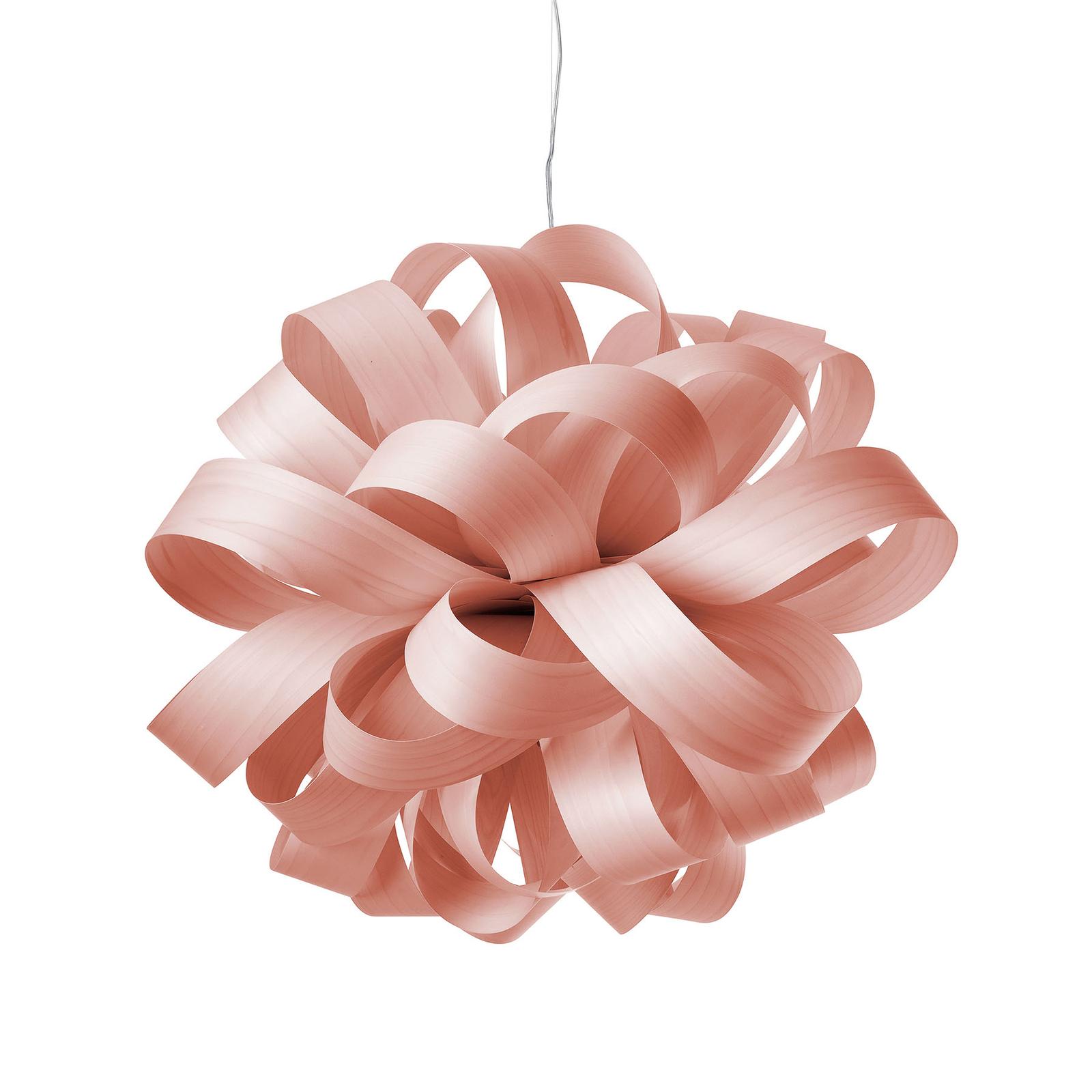 LZF Agatha Ball hengelampe, 84x80cm, rosé