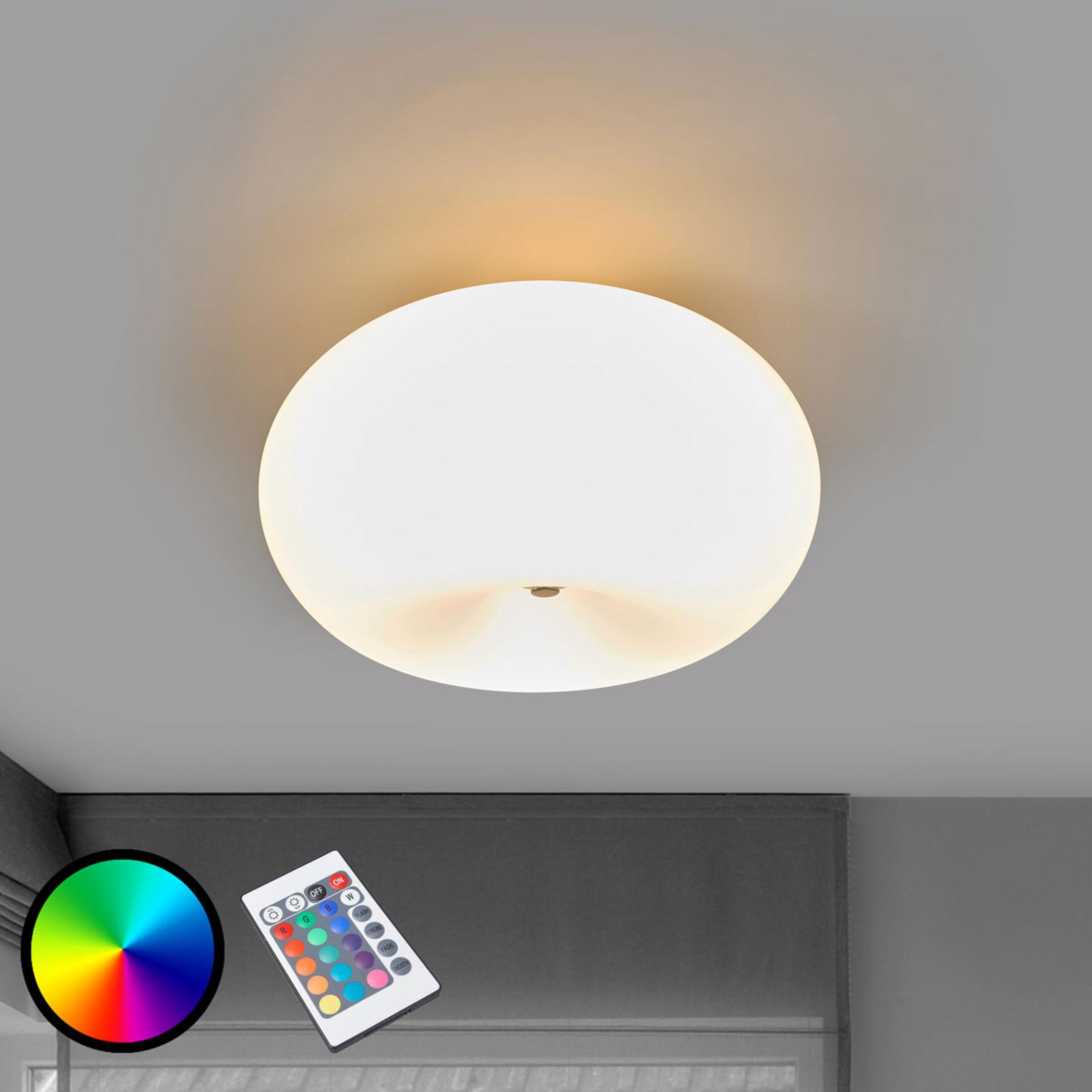 LED-plafondlamp Optica-C RGBW met afstandsbed.