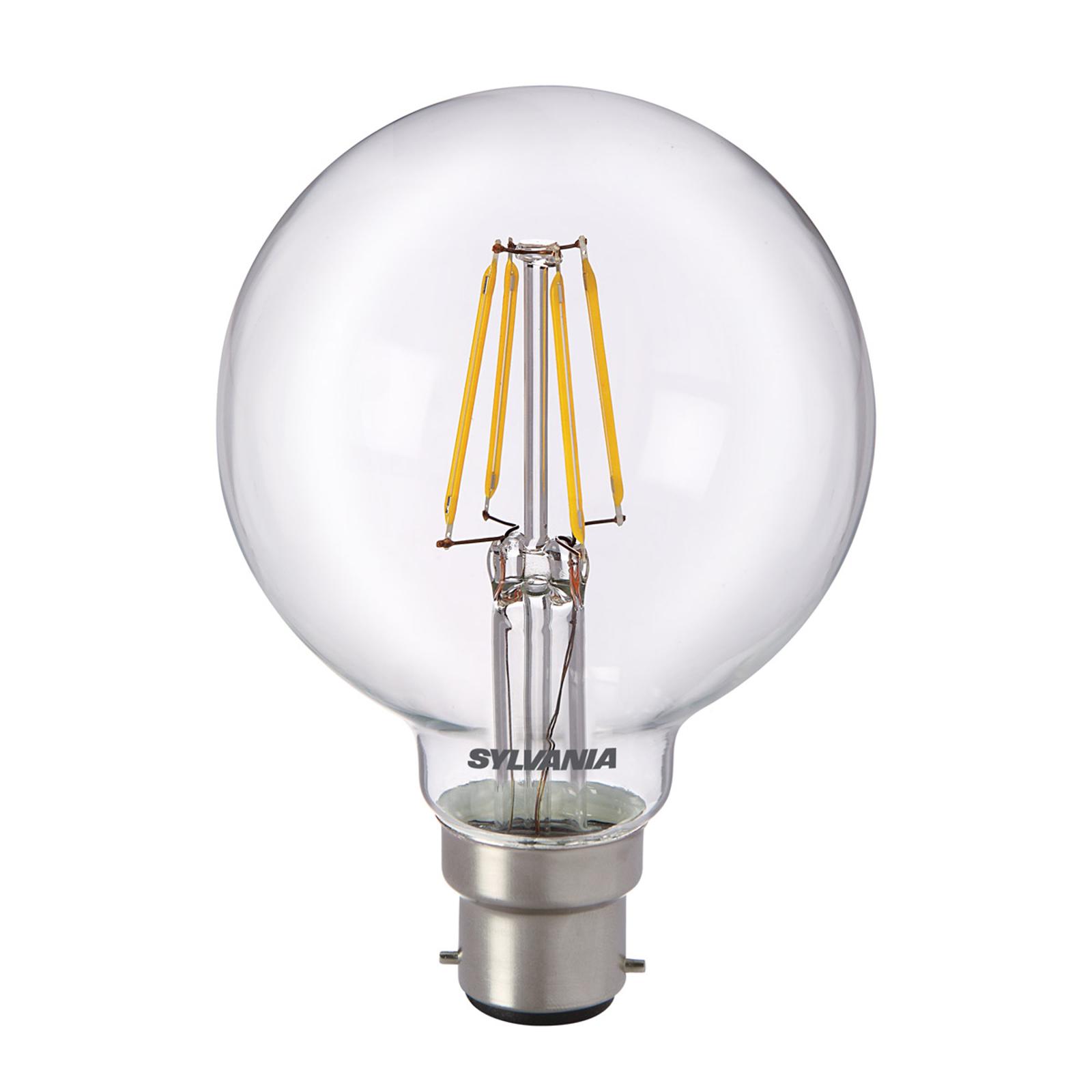 B22 5W 827 kulka LED, przezroczysta
