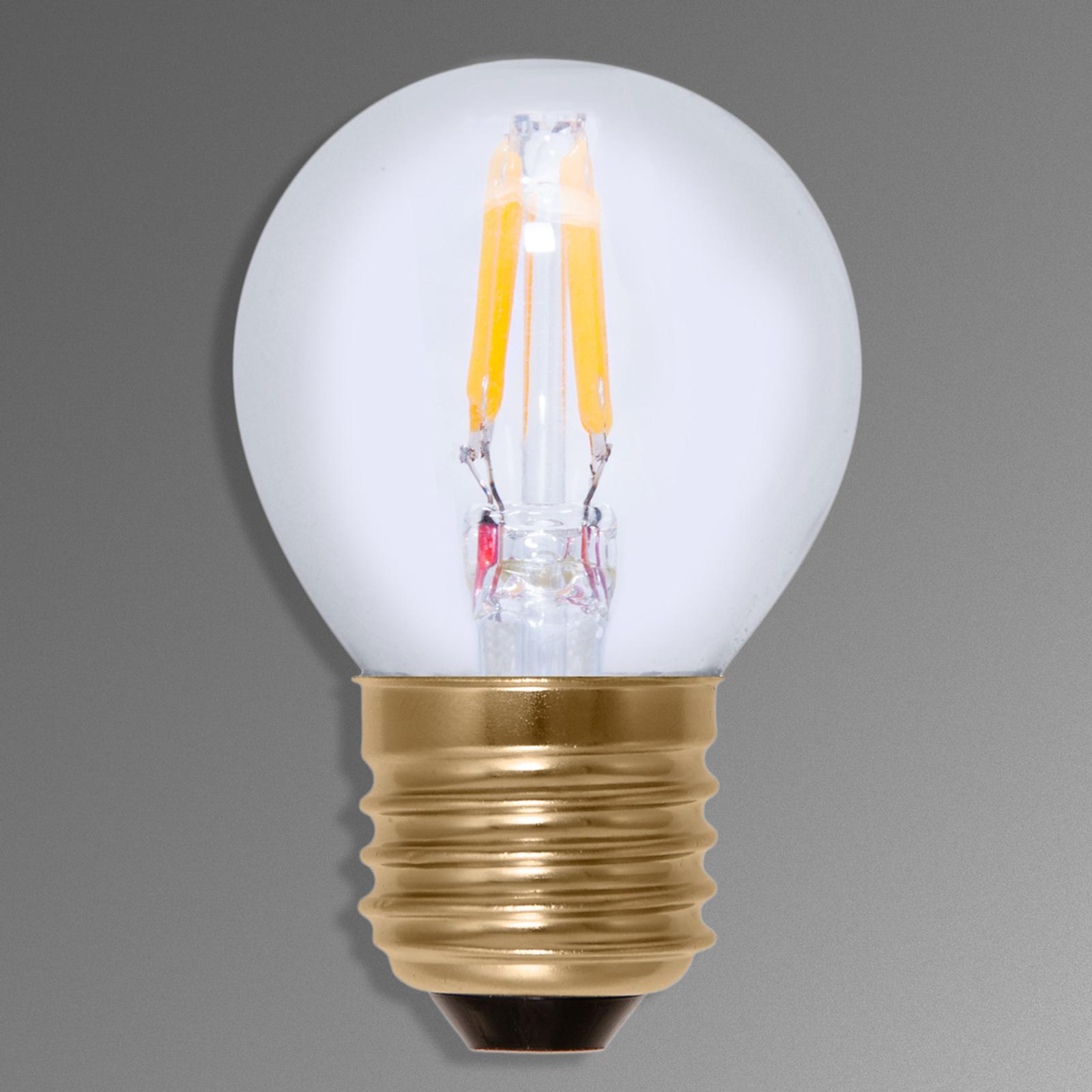 E27 2,7 W 922 LED dråpepære synlige glødetråder