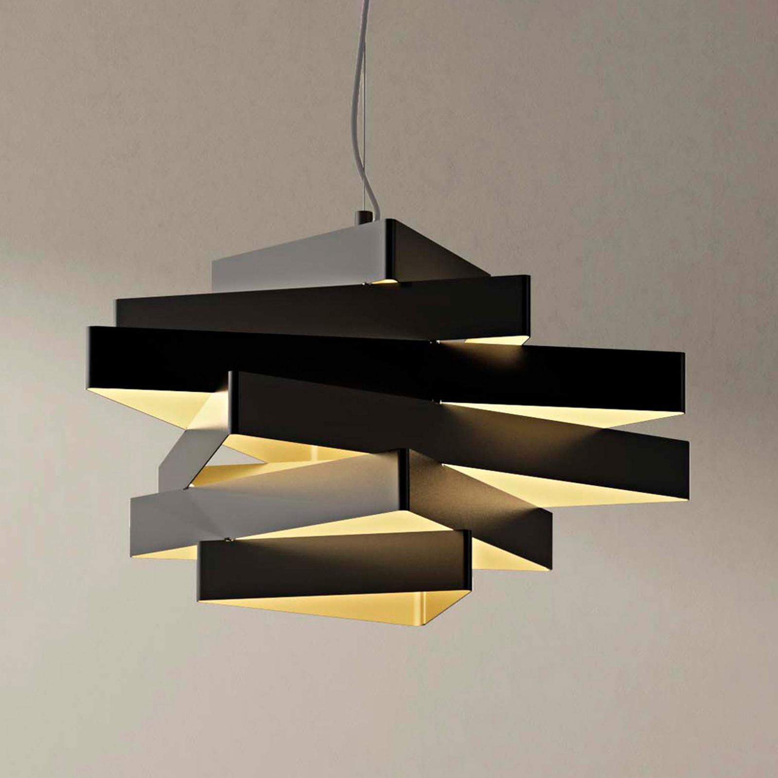 Abstrakcyjna lampa wisząca Miles z trójkątami