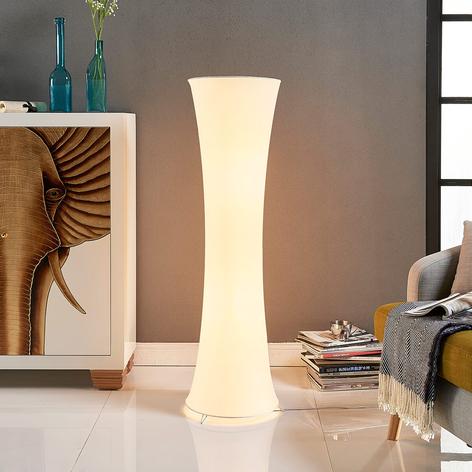 Lámpara de pie de tela Liana con forma cóncava
