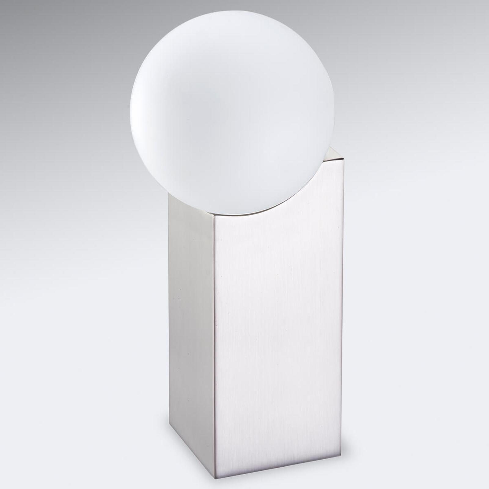 Lampe à poser Cub 23,5cm nickel mat