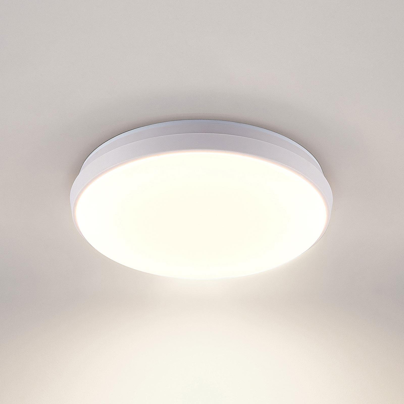 Arcchio Brady LED-loftlampe, hvid, rund, 25 cm
