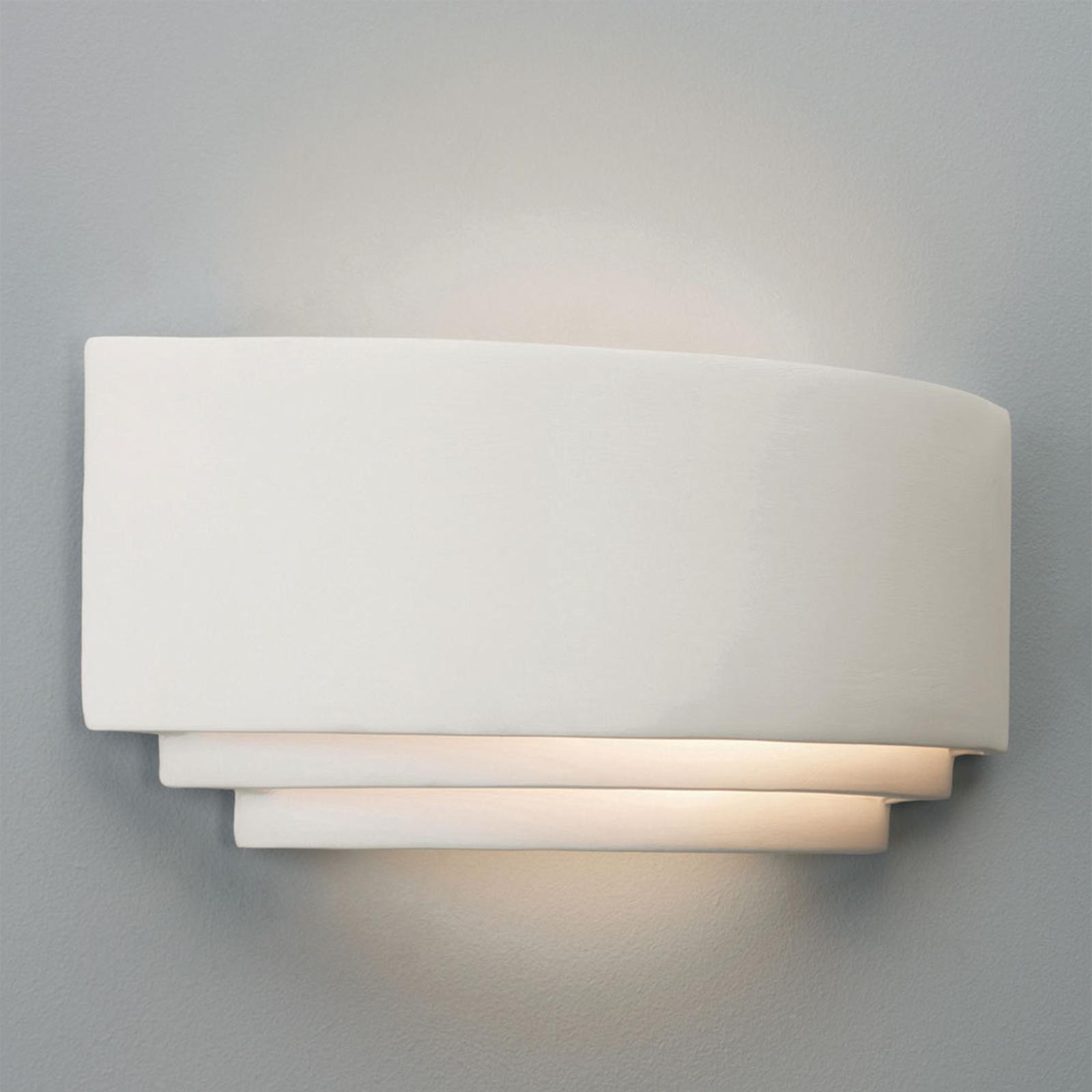 Astro Amalfi 380 weiße Keramik-Wandleuchte 38 cm