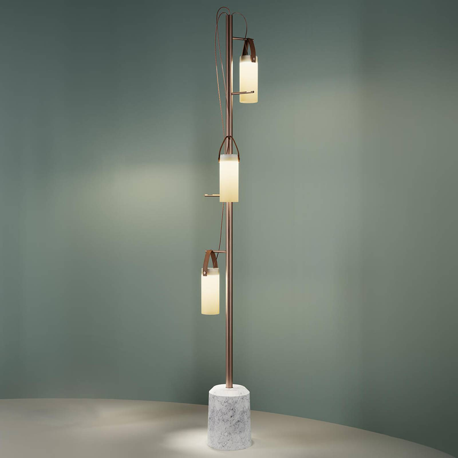 LED design vloerlamp Galerie met 3 lampen