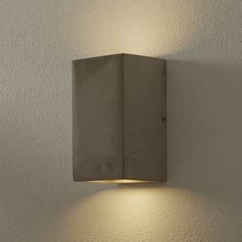 Vegglampe Kool av sement, høyde 19 cm