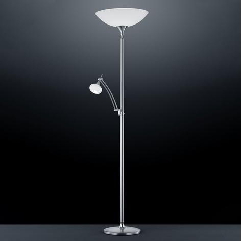 BANKAMP Opera lampada da terra luce lettura nichel