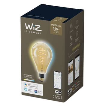 WiZ LED-Filament PS160 E27 6,5W 2000–5000K amber