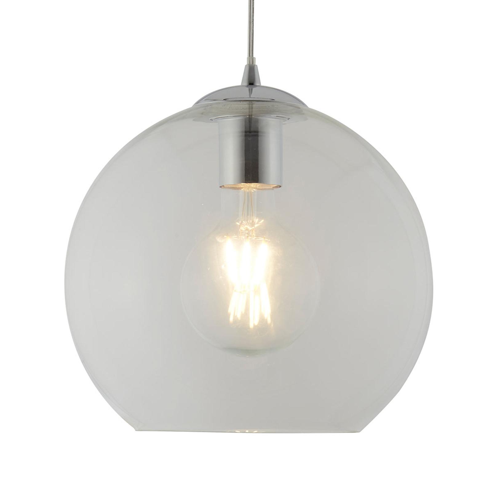 Szklana lampa wisząca Balls, 25cm, przezroczysta