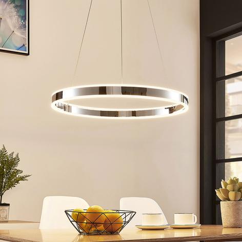 Závěsné světlo Lyani v chromu, stmívatelné, 60 cm