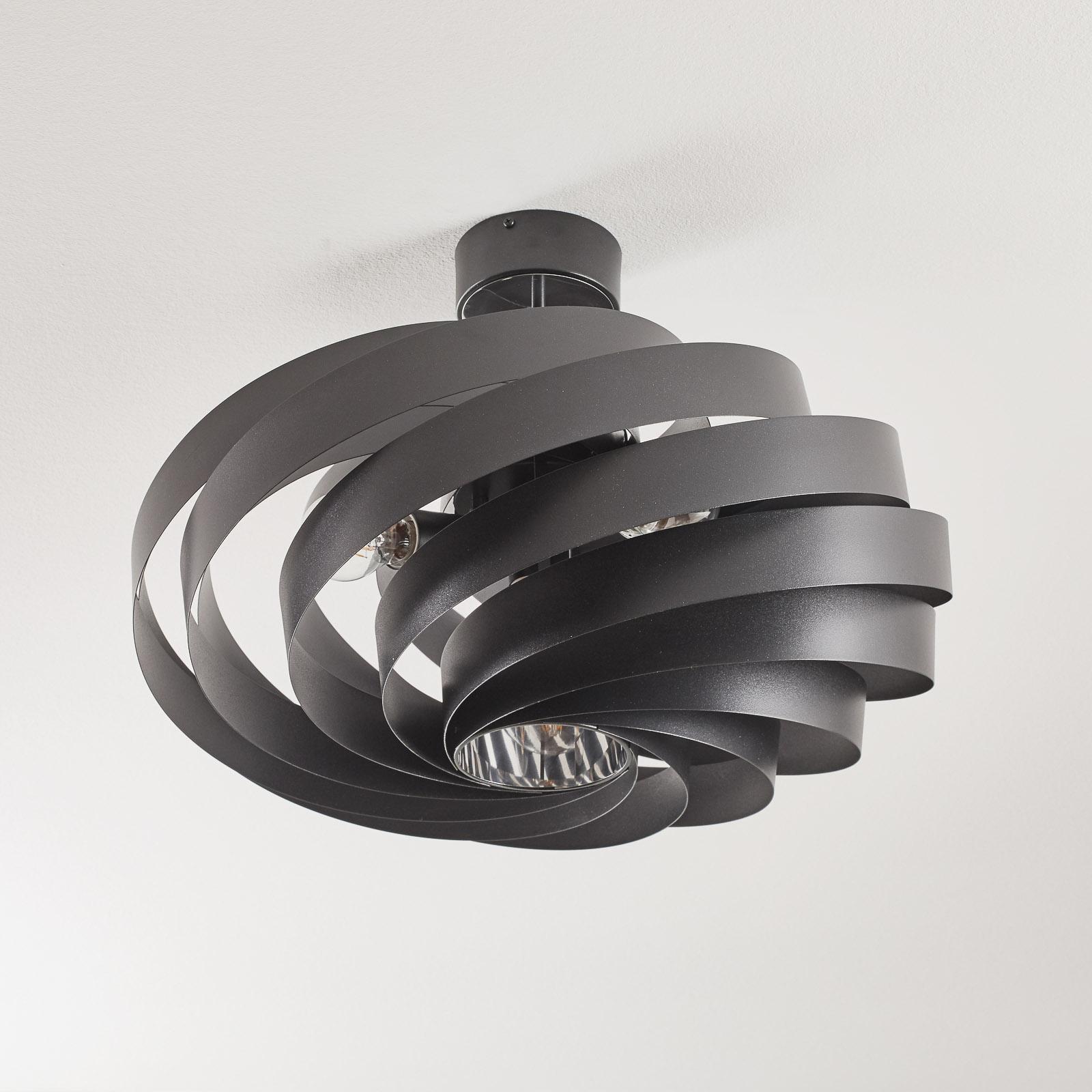 Plafonnier Vento noir Ø 60cm