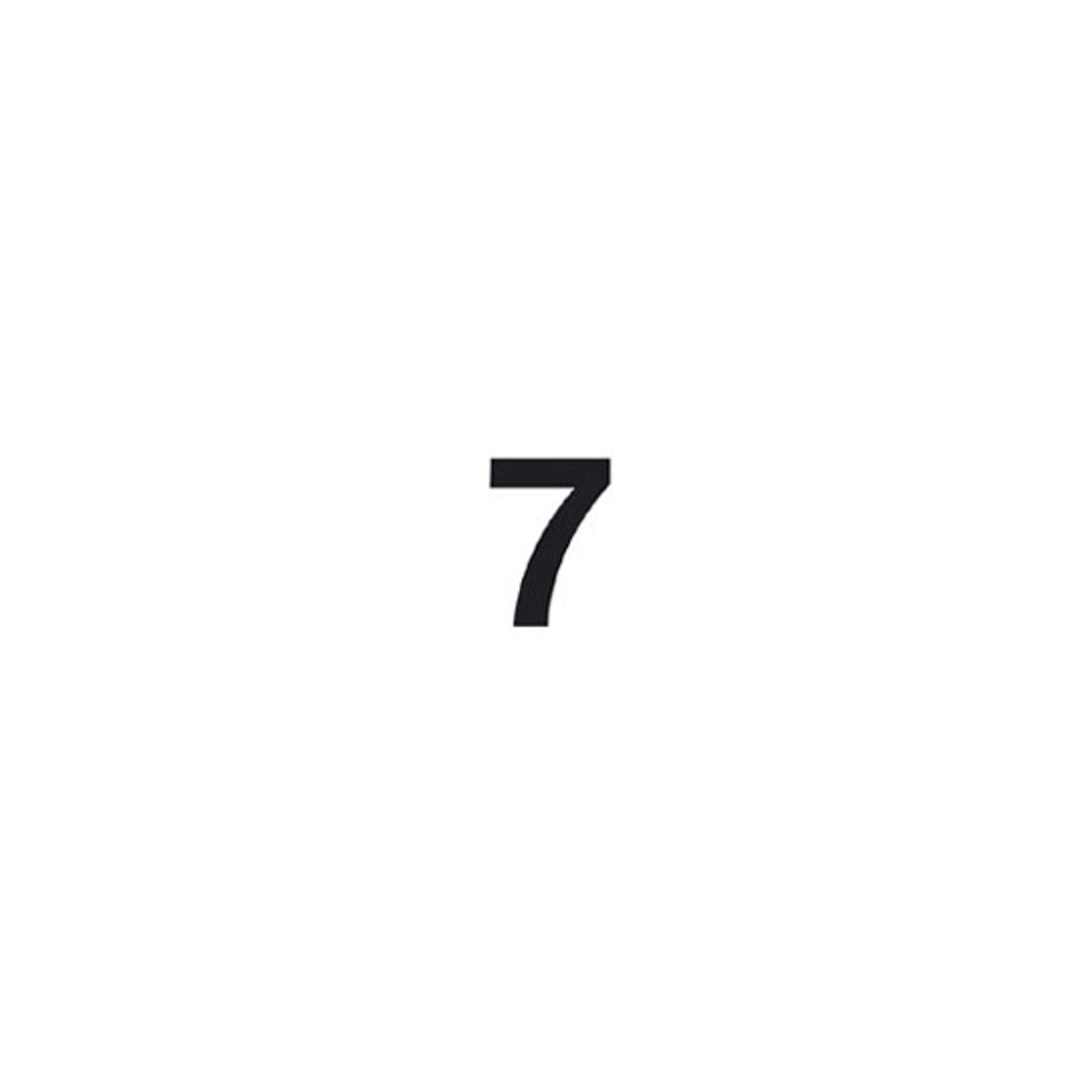 Cifra autoadesiva 7