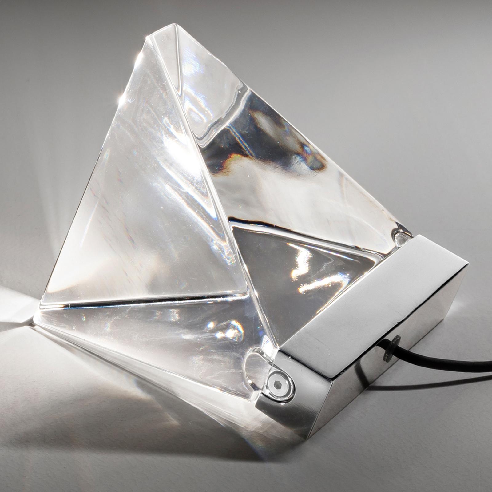 Fabbian Tripla - Kristall-LED-Tischleuchte, alu
