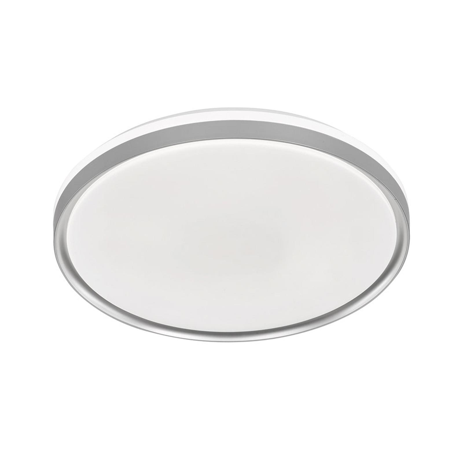 LED-taklampe Jaso BS, Ø 39 cm, sølv