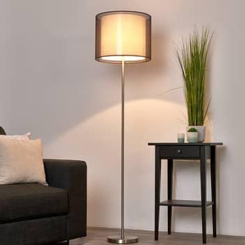 Nica - lampa stojąca z brązowym abażurem
