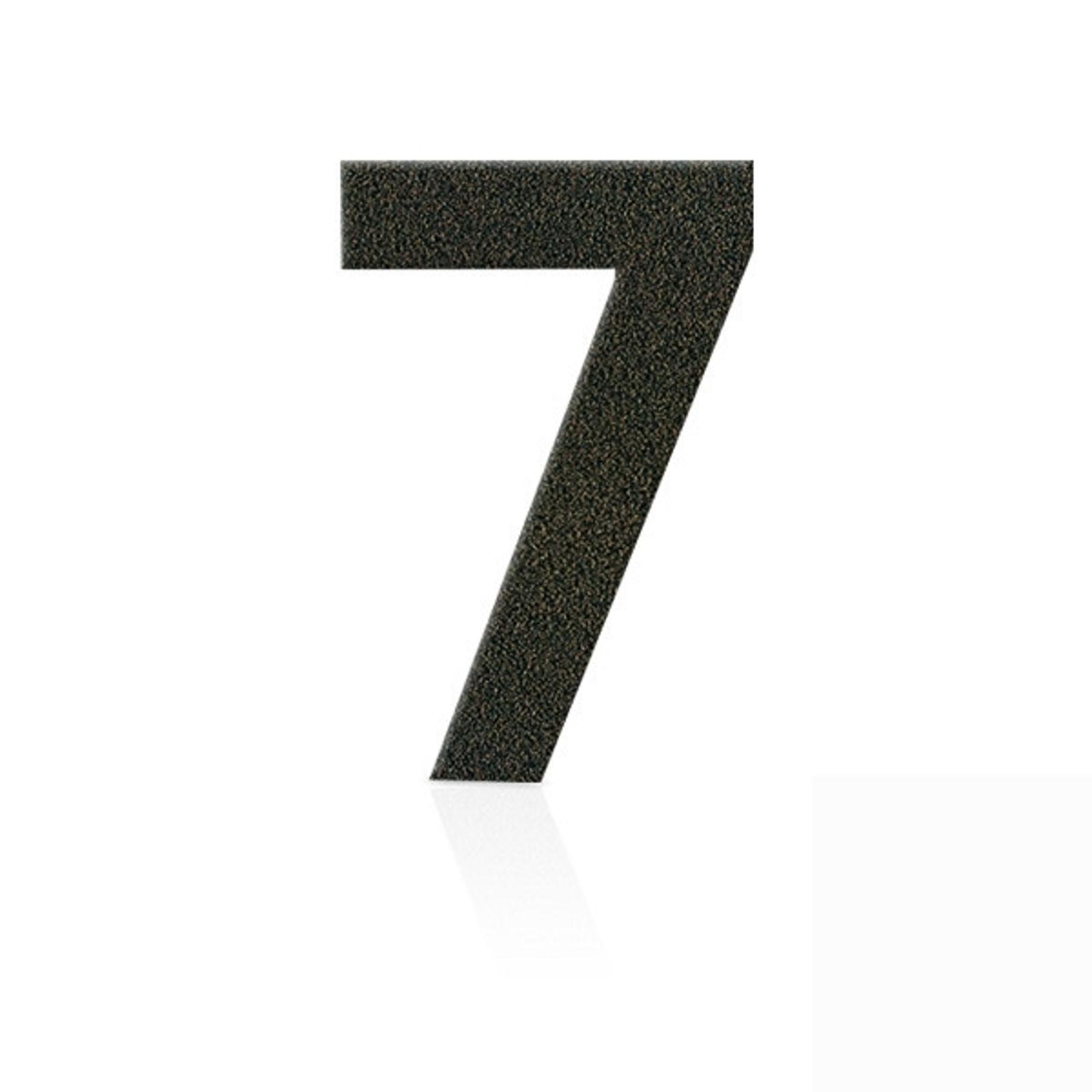 Produktové foto Heibi Nerezová domovní čísla číslice 7, hnědá mocca