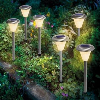 LED solar-grondspies lampen Imola 6 per set