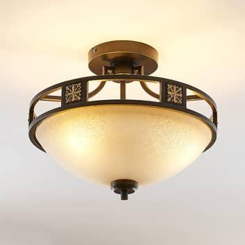 Lindby Ferre taklampa i glas, rostimitation