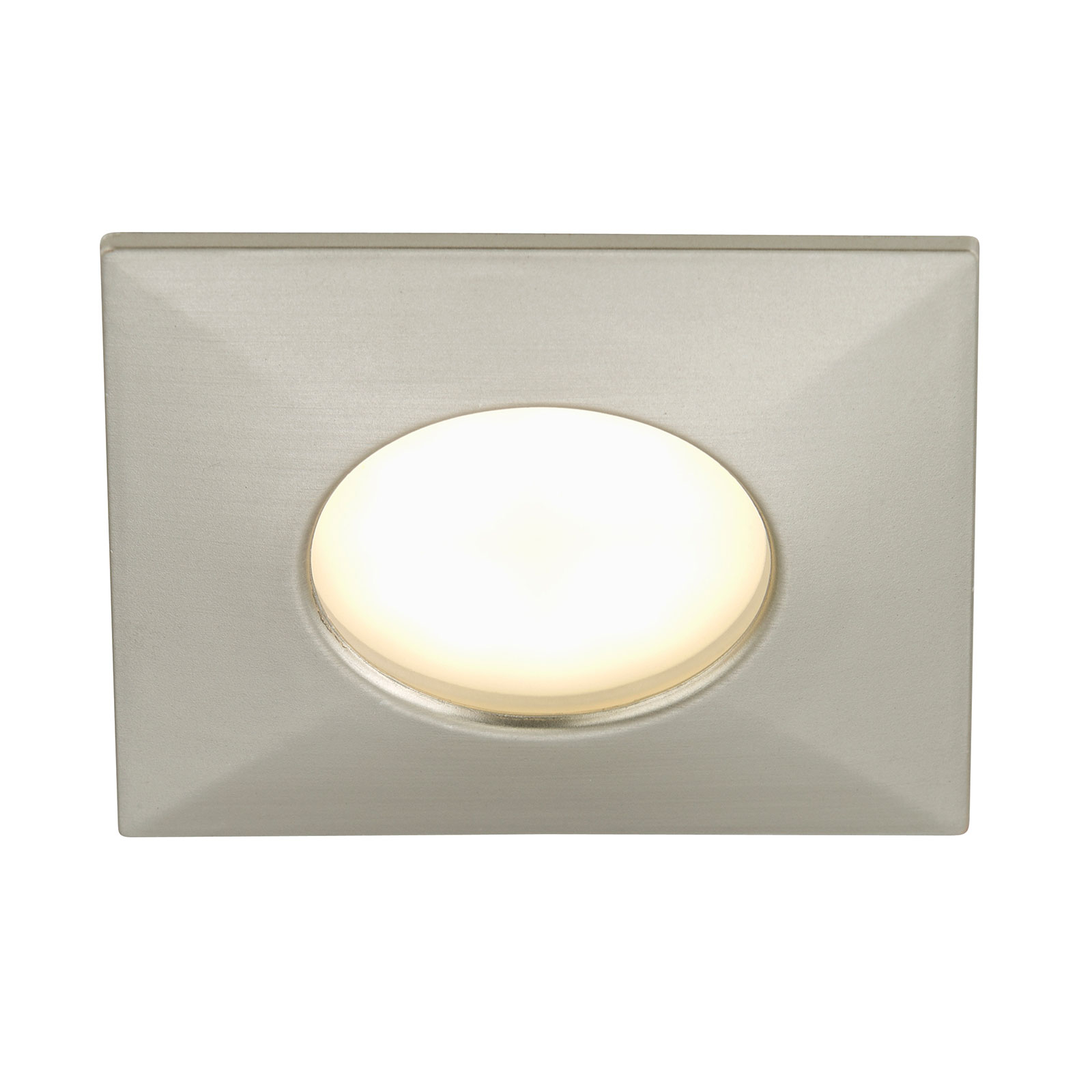 Downlight LED angolare Ben da esterni, nichel
