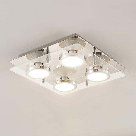 Lindby Gabryl plafoniera LED a 4 luci