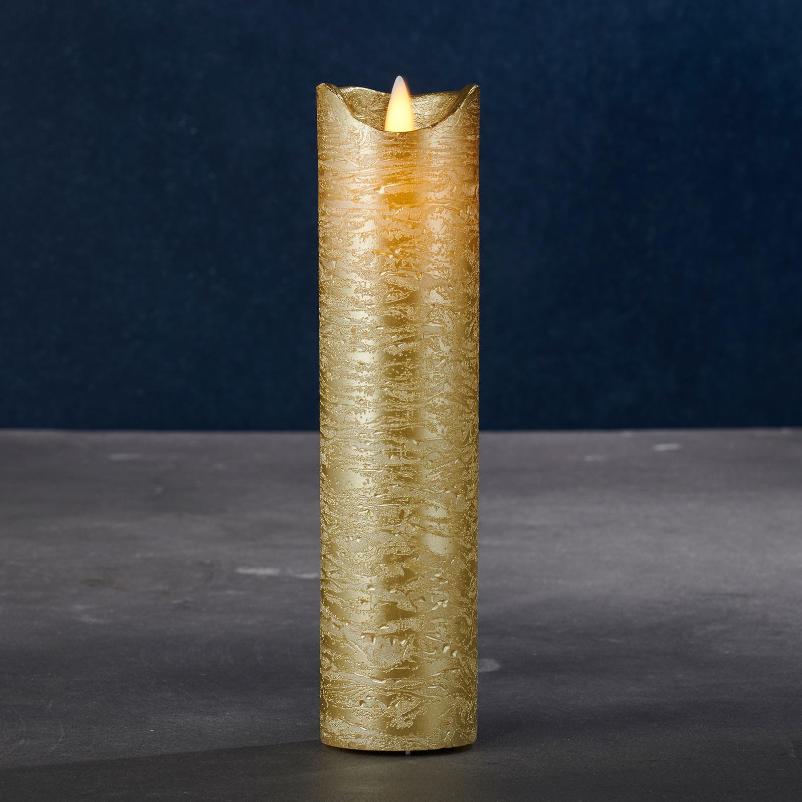 Vela LED Sara Exclusive, oro, Ø 5 cm, altura 20 cm