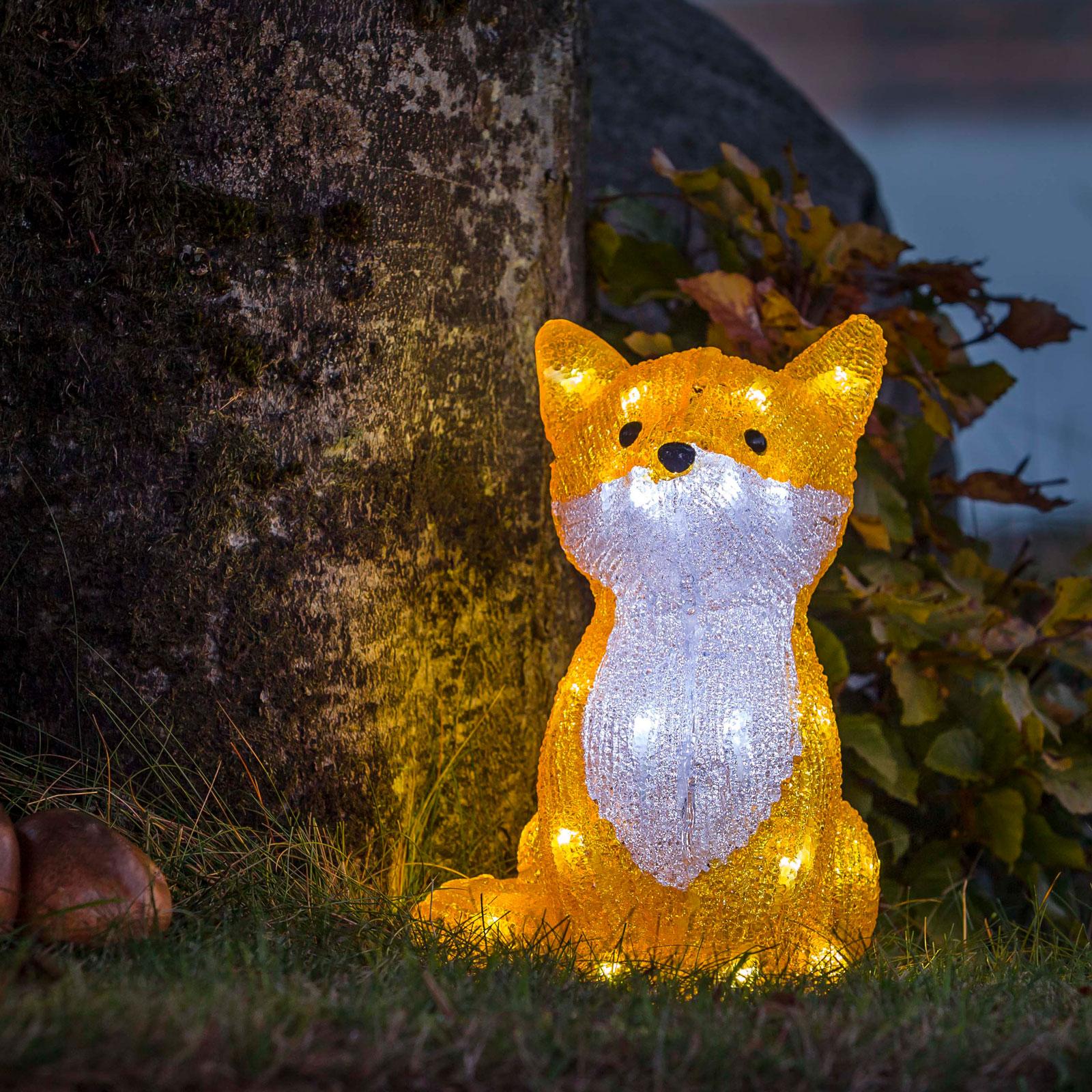 LED-ljusfigur räv, för utomhusbruk