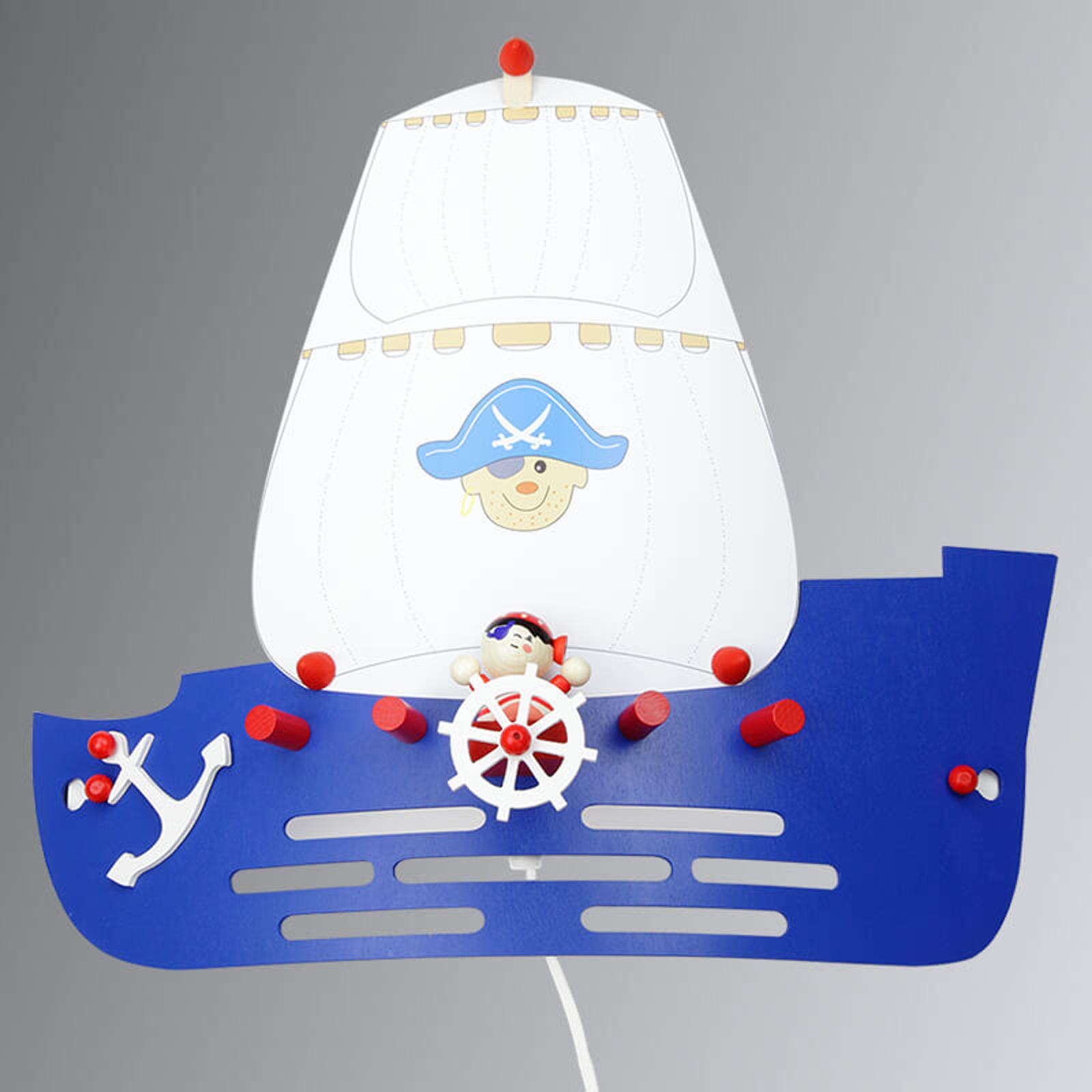 Dziecięca lampa ścienna Statek piracki