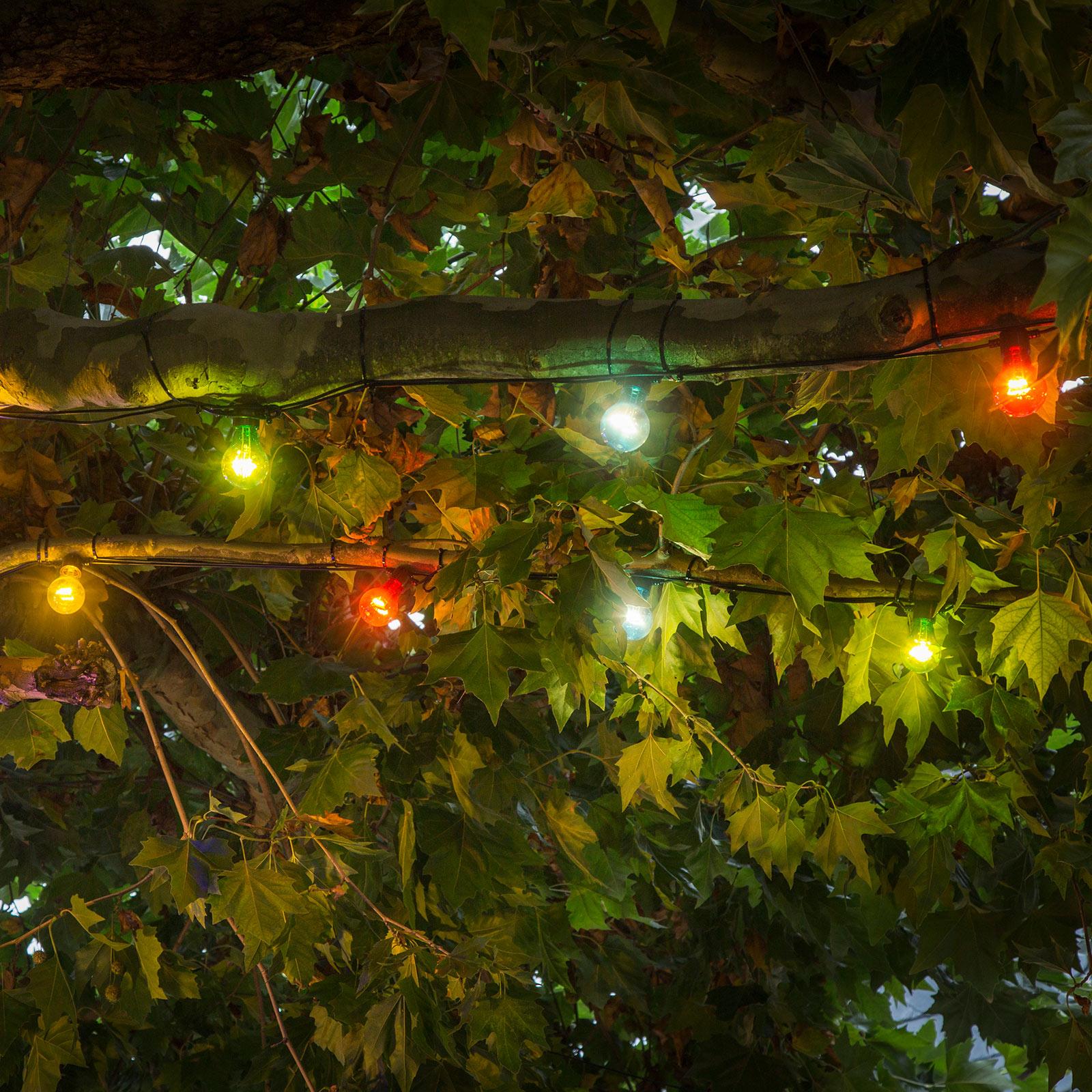 LED lichtketting Biergarten, uitbreiding, kleurr