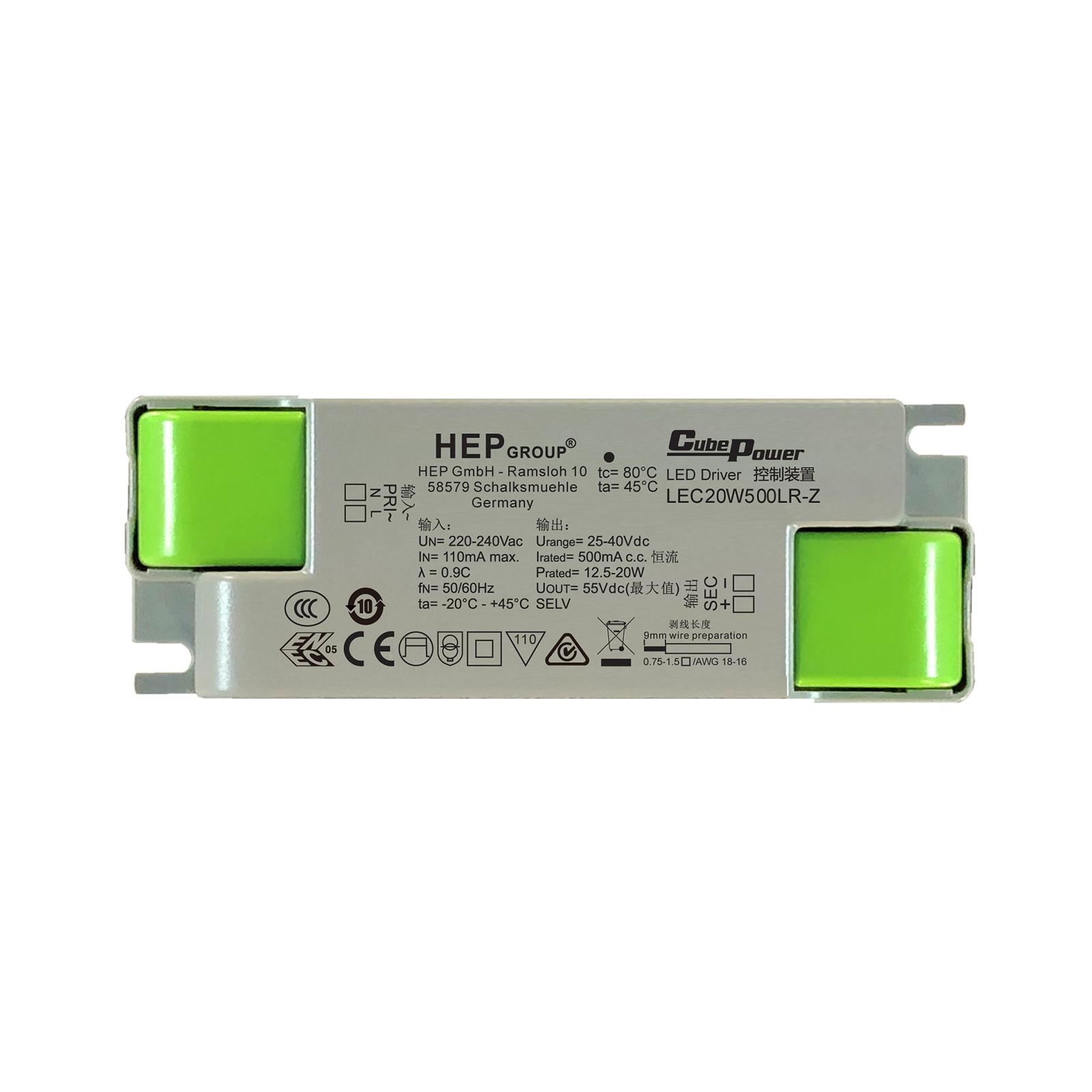 LED-driver LEC, 20 W, 500 mA, CC