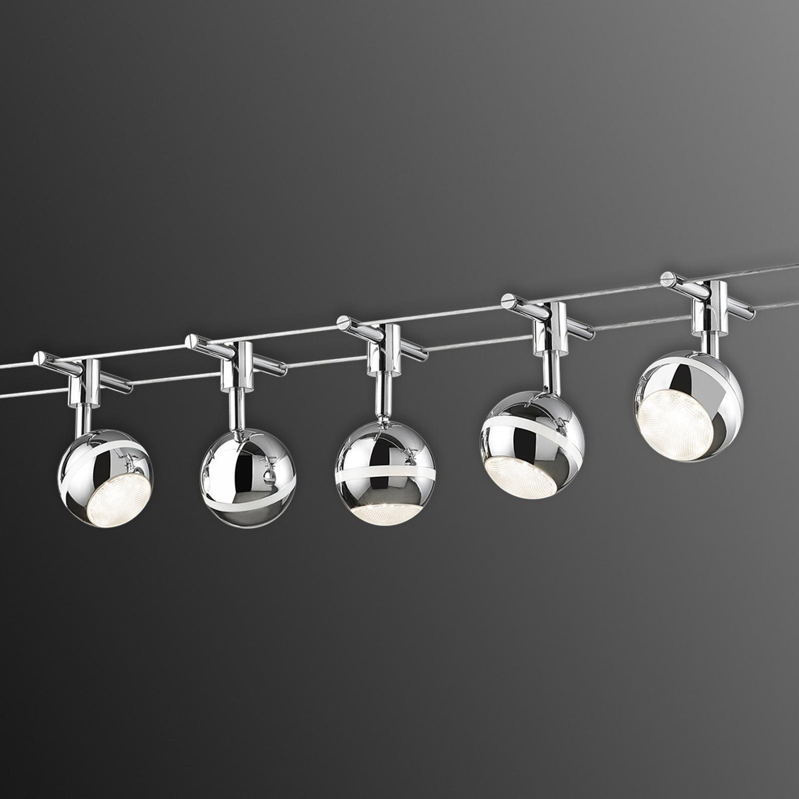 System linkowy LED Baloubet, chrom