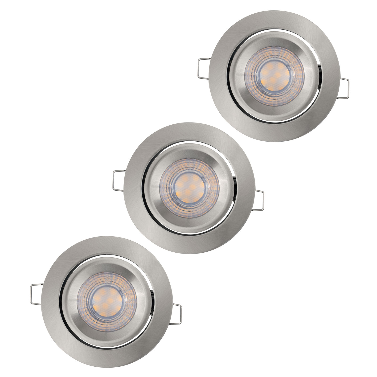 LEDVANCE Simple Dim LED-Spot im 3er-Set, alu