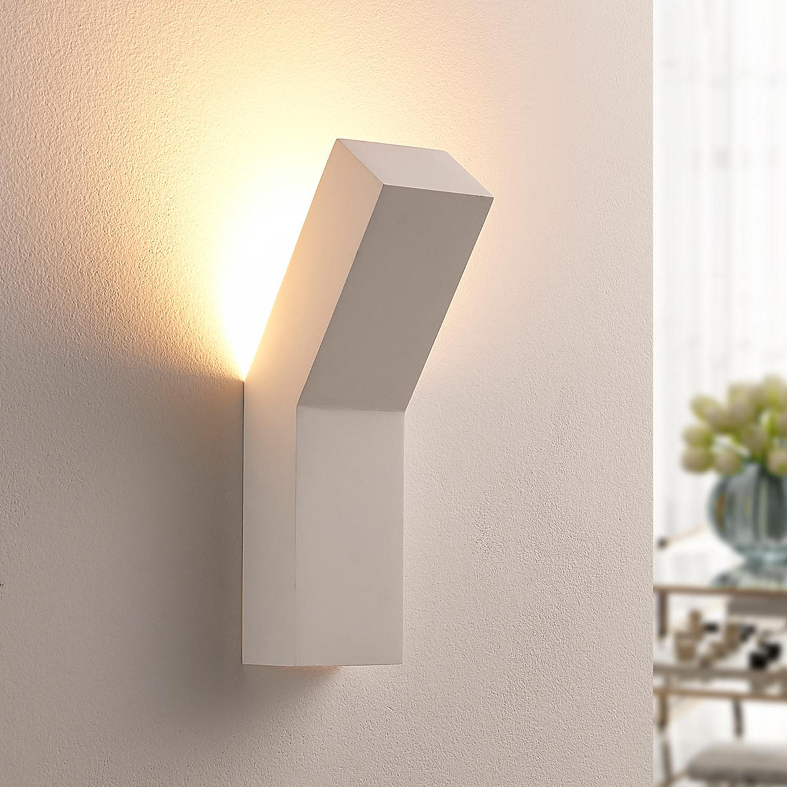 Moderne LED-vegglampe i gips Tida