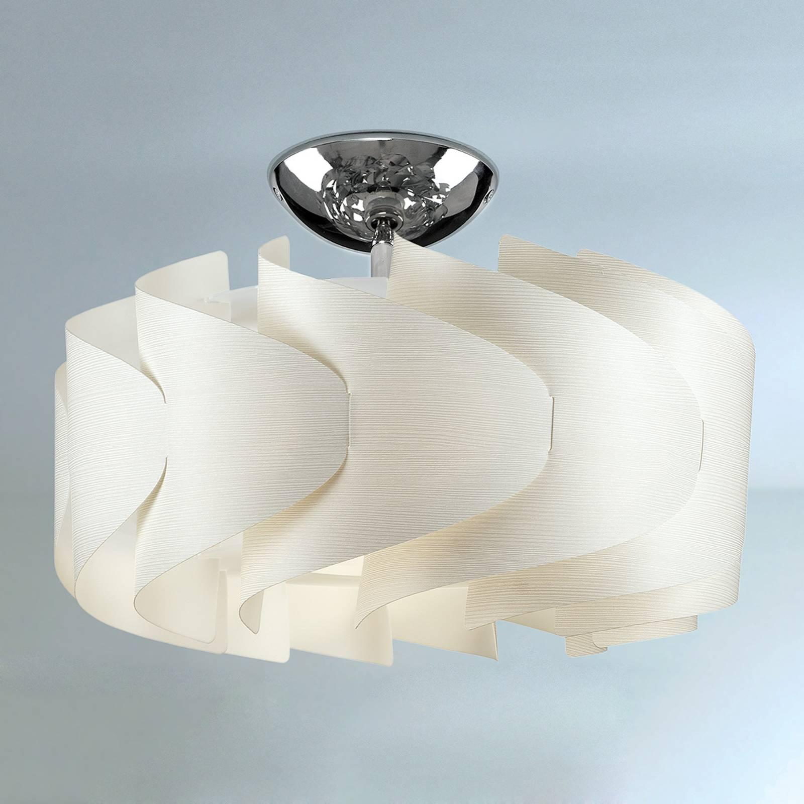 Plafondlamp Sky Mini Ellix in houtoptiek wit