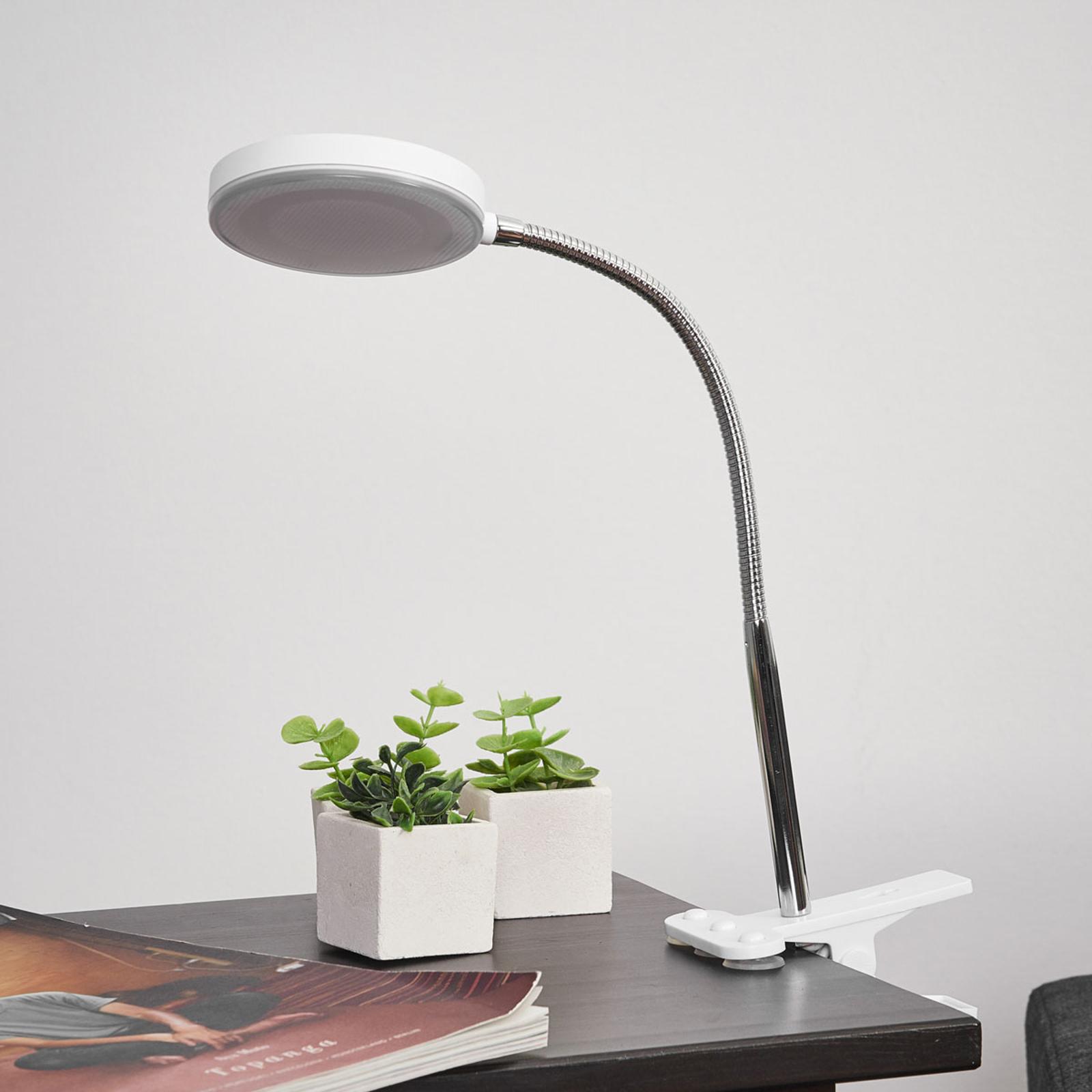 Svítilna s klipem Milow s LED, flexibilní rameno